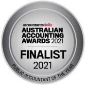Teddy Kosasih Australian Accounting Awards Finalist Seal 2021 (Public Accountant)
